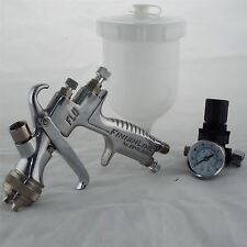 Devilbiss FLG-5-14 Gravity Spray Paint Gun 1.4mm Tip + Pressure Regulator
