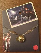 Harry Potter Quidditch Golden Snitch Locket Necklace Gift New With Tags!