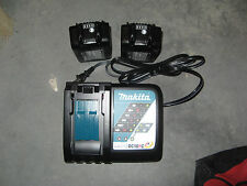 New Makita OEM DC18RC Charger & 2 BL1830B 3.0 Ah Batteries With Battery Gauge