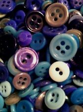"""⭐️ ANTIQUE~VINTAGE CHINA BUTTONS 300+ """"ASSORTED BLUES"""" ⭐️"""