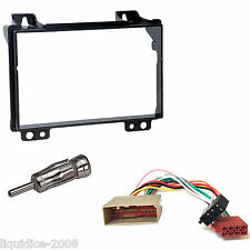 FORD FIESTA 2002 - 2005 BLACK DOUBLE DIN FASCIA FACIA FITTING PACKAGE KIT