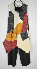 STUNNING SARAH SANTOS/MIAMI  ASYMMETRIC WOOL/VISCOSE  TUNIC TOP SIZE L/XL