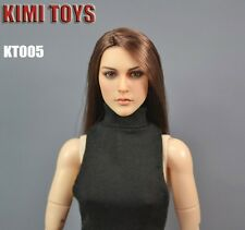 KIMI TOYS 1/6 EUROPEAN AND AMERICAN FEMALE HEAD SCULPT KT005 STRAIGHT HAIR MODEL