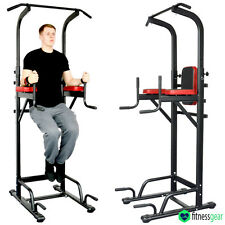 Pull Up Power Tower Station Abs Knee Crunch Chin Ups Tower Workout Gym Workout