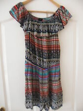 PRIMARK SUMMER PLAYSUIT SIZE 8 BNWT BOHO SUMMER FESTIVAL WEAR FAB