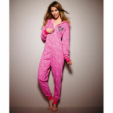 Avon Lipsy London Pink Zebra Animal Print All in One / Onesie with Hood Size 4/6