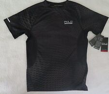Polo Sport Ralph Lauren Printed Hexagon Soft Touch Black T-Shirt - M (10-12) NWT