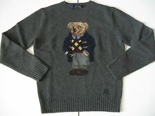 POLO RALPH LAUREN Men's Intarsia-Knit Polo Bear Wool Sweater 2014 EDITION!!! S