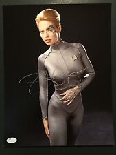 Jeri Ryan Seven of Nine Signed Autogragh JSA COA 11 x 14 photo Star Trek Voyager