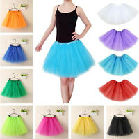 Adult Womens / Girls Gauze Ballet Dance Short Mini Tutu Bubble Skirt Fancy Dress