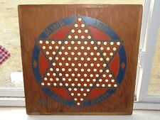 Vintage DIAMOND GAMES CO. Wood Chinese Checkers Checkers Board Game Decor Toy