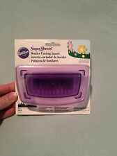 Wilton Sugar Sheets Scallop Border Punch Set Grass Cutter Cutting Insert