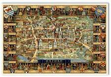 "Oxford University Campus Area MAP - Vintage London, England circa 1948 24"" x 36"""