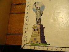 Vintage Statue of Liberty Item: Cardboard cut-out decoration