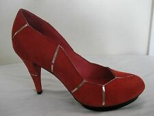 UN United Nude Pumps Heel Leather Red Shoes Size 39,  8 - 8.5