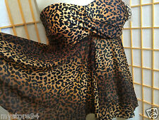Merona Black Brown Leopard Print Swimwear Halter Tankini Swim Top Womens Size M
