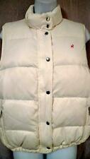 ~Girl's L Small Woman's OLD NAVY Down Off White Puffer Vest w Fleece Lining