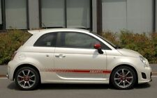 Fiat 500 abarth side stripes decals graphic rouge, noir, plus couleurs