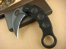 Half Serrated Assisted Opening Knife karambit Tactical Folding Claw Saber Tools