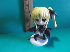 "#655 Nanoha Anime 3.5""in Big Head Twin Tailed Hair Girl Figure see Description"