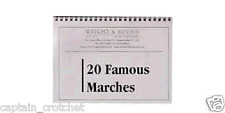 20 Famous Marches - Solo Cornet Part Book - A5 Spiral Bound Brass Band Music