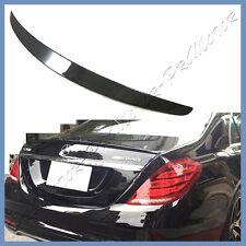 PAINTED 040 BLACK BENZ W222 4D 2014+ S500 S600 S63 S65 OE Look Trunk Lip Spoiler