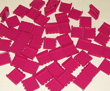 Lego Lot of 50 New Magenta Panels 1 x 4 x 3 with Side Supports Pieces