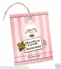 Rose And Co Patisserie De Bain STRAWBERRY CUPCAKE Scented Sachet For Car & Home