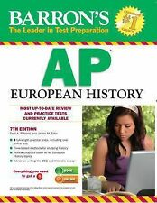BARRON'S AP EUROPEAN HISTORY BY ROBERTS + EDER STUDY GUIDE/AID 7TH EDITION