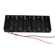 Battery Holder 10 Size AA R6 Case 15V Box With Wire Lead For DIY Experiment Test