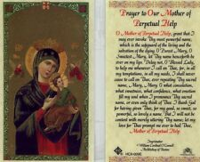 Prayer to Our Mother of Perpetual Help Catholic Laminated Holy Cards HC9-009E