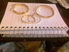 3 gold tone hoop earrings small med large   buy now get silver tone  free