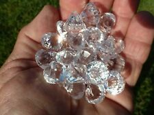 Faceted Acrylic Diamond Charms Fake Diamonds with Hole for Ribbon Pack Of 30