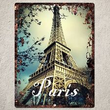 PP0085 Vintage Paris Sign Rustic Parking Plate Home Restaurant Cafe Gift Decor