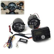 Motorcycle Handlebar Alarm FM Radio USB SD Audio Stereo MP3 Player w/2 Speakers