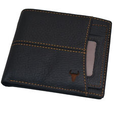 New Black Leather Wallets For Mens Credit Card Wallet Zipper Coin Pocket Purse