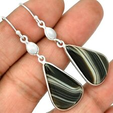 Botswana Agate 925 Sterling Silver Earrings Jewelry SE127178