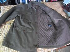 STRUCTURE olive army green WOOL zip JACKET COAT quilted lined MENS M/L military