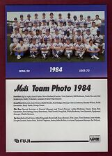 1984 New York Mets 7x5-inch Team Photo/1992 Fugi & WIZ home entertainment center