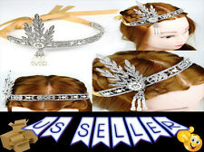 Flapper 1920's Great Gatsby Style Pearl Crown JSDT Head Hair Dress Band Bridal