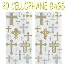Boys Christening / 1st Holy Communion Cross Decorations Cupcake Gift Party Bags