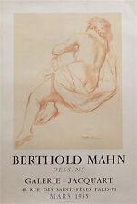 Berthold Mahn affiche litho galerie Jacquart 1955 dessin Mourlot Paris P 720