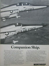 7-11/1975 PUB NORTHROP F-5E TIGER II F-5F USAF US AIR FORCE ORIGINAL AD