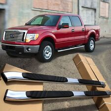 "04-14 Ford F150 Super Crew Cab Aluminum Nerf Bars Pair Side Step OE Style 5""Oval"