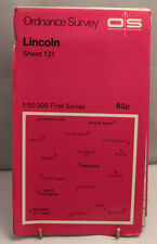 Ordnance Survey 1:50,000 Map - Lincoln - Sheet 121 - 1974