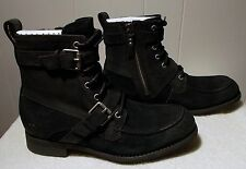 NEW UGG Boots OLMSTED Black Zipper and Laces Men's Size 9