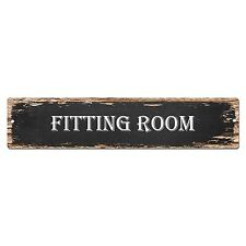SP0121 Fitting Room Street Plate Sign Bar Store Cafe Kitchen Chic Decor
