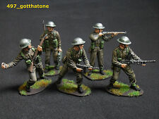 airfix 1/32 painted British Infantry x 5. WW2. professionally painted. 54mm