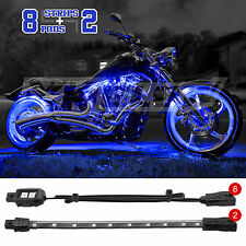 60 LED Harley Davidson Kawasaki Suzuki Honda Accent Neon Lighting - BLUE