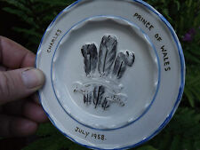 RARE Prince Charles created Prince of Wales July 1958 small Plate